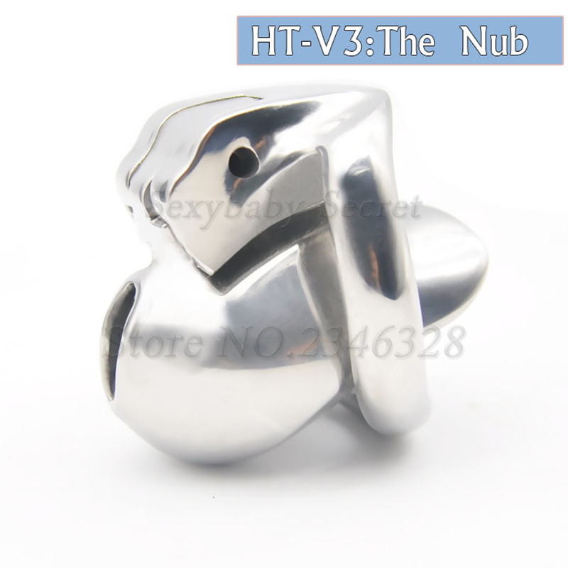 New Design HT V3 Super Small 316 Stainless Steel Male Chastity Device with Locking ,Penis Rings,Cock Cage,Adult Sex Toys For Man