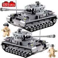 1193PCS Military Germany 923 Tank Model Building Blocks Compatible Legoed Army Ww2 Soldiers Figures Sets Toys for Boys Technic