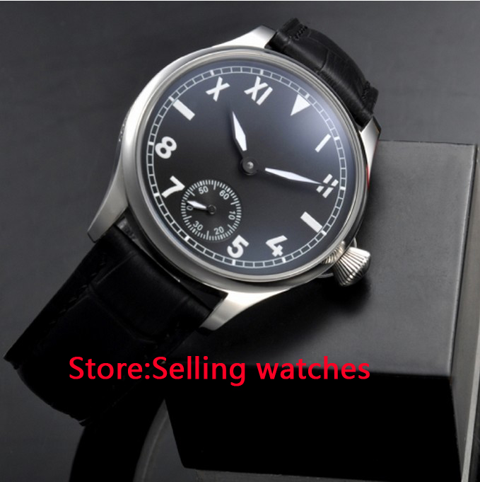 Здесь продается  44mm Parnis Black Dial Hand Wind 6497 Mechanical mens Watch  Часы