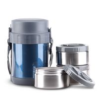 1.8L Stainless Steel Insulated Lunch Box 3 Layer for Kids Food Container Vacuum Insulated Thermo Soup Bento Lunch Box