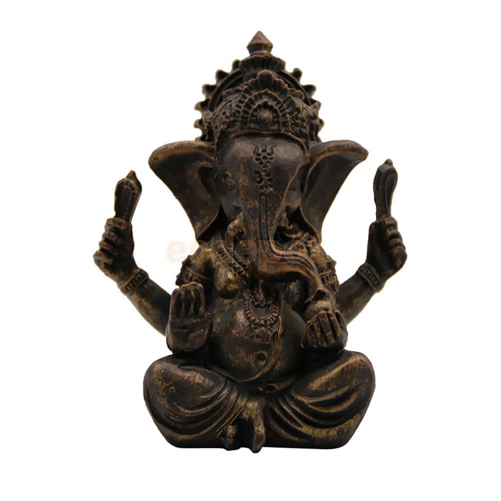 MagiDeal Meditating Buddha Elephant Statue Religious Blessing Figurine Home Art Decor Ontentment And Wisdom Aupicious Ornaments