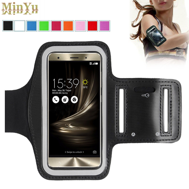 reputable site b0a25 c0a26 US $4.27 |for ASUS Zenfone 3 Waterproof Sport Arm Band Leather Case for  Asus Zenfone 3 Deluxe /Zenfone 3 Laser /Zenfone 3 Max Tab Bag-in Tablets &  ...