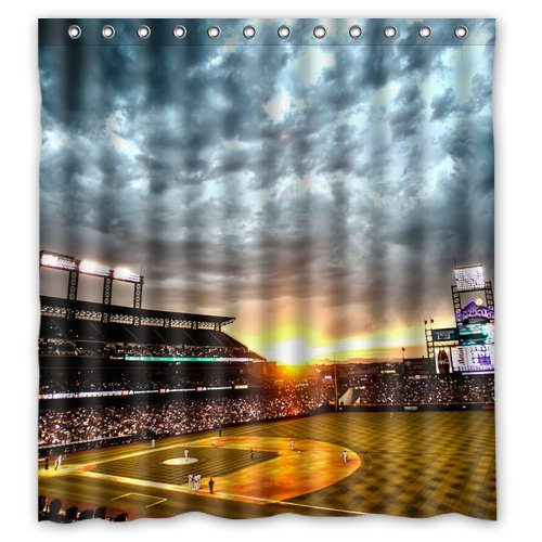 CHARMHOME Custom Personalized Baseball Shower Curtain In Curtains From Home Garden On Aliexpress
