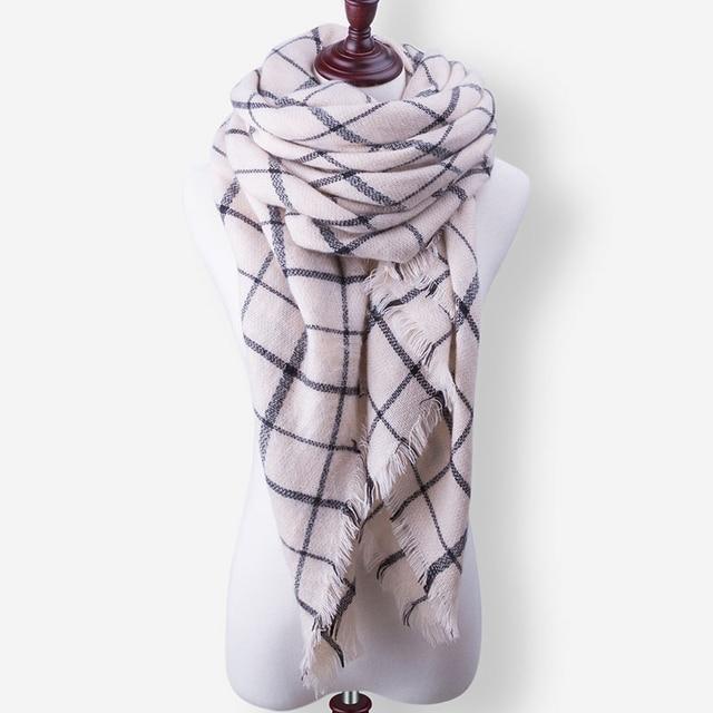 Evrfelan New Fashion Winter Scarf Luxury Brand Ladies Scarves Wraps Women Warm Shawls Scarf Women Triangle Bandana 140*140*210