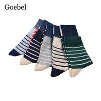 Goebel Fashion Man Socks Stripe Comfortable Men In Tube Socks Breathable Sweat Absorb Male Winter Socks