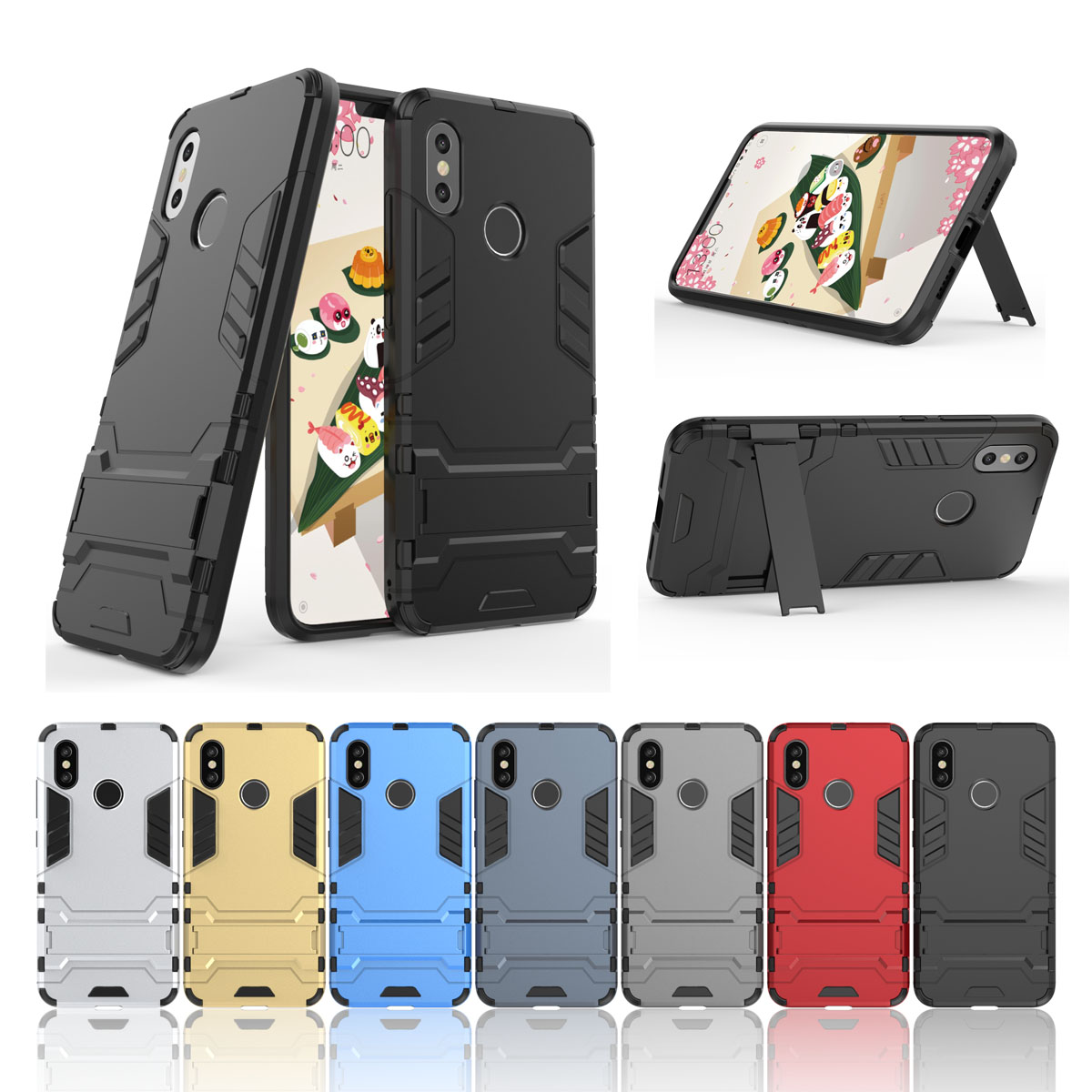 US $3 6 25% OFF|Shockproof Armor Hybrid Phone Case For Xiaomi Mi 8 SE 5 6  A1 A2 6X Mix 2s Max 2 For Redmi 5A S2 Plus Note 4 4X 5 5A Pro Cases-in
