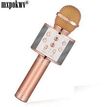 Microfone de karaokê Sem Fio Bluetooth Speaker Portátil Music Player MIC Gravador Microfone KTV Casa Karaoke Cantando Microfone