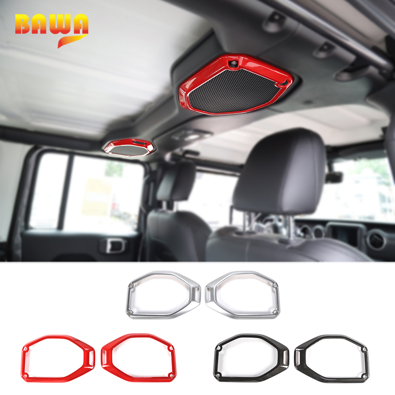 BAWA Interior Mouldings for Jeep Wrangler JL 2018 ABS Car Roof Speaker Decoration Cover for Jeep
