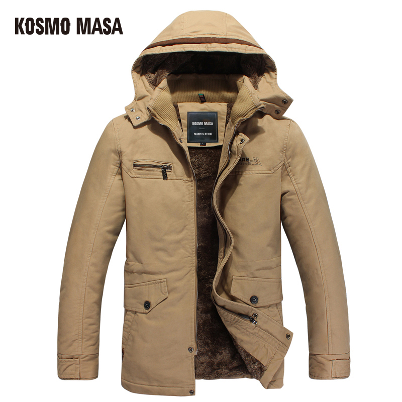 KOSMO MASA 2017 Cotton Hooded Winter Jacket   Parka   For Men Brand Clothes Coat Campera Puffer Jackets Mens Down   Parkas   P0007
