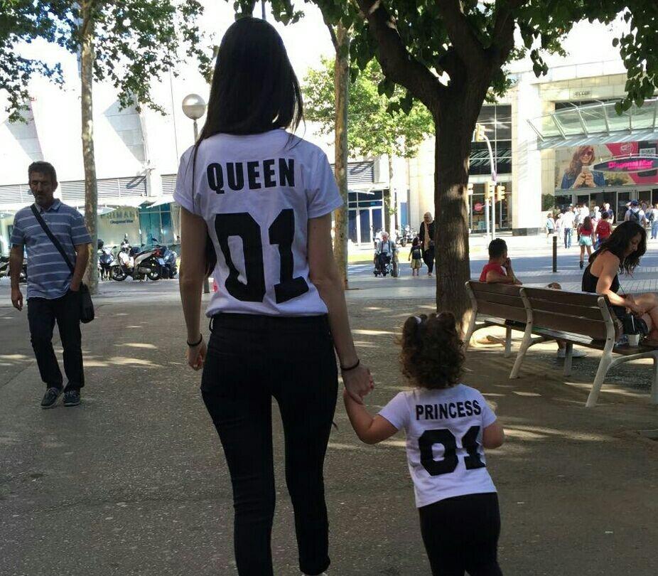 BKLD New 100% Cotton Matching T shirt King 07 Queen 07 Prince Princess Letter Print Shirts,Casual Men/Women Lovers Tops Newborn 14