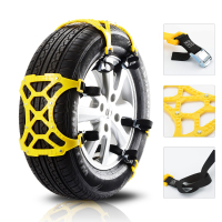 6Pcs/Set Car TPU Snow Chains Universal Double Buckles Car Winter Roadway Safety Tire Chains Snow Climbing Mud Ground Anti Slip