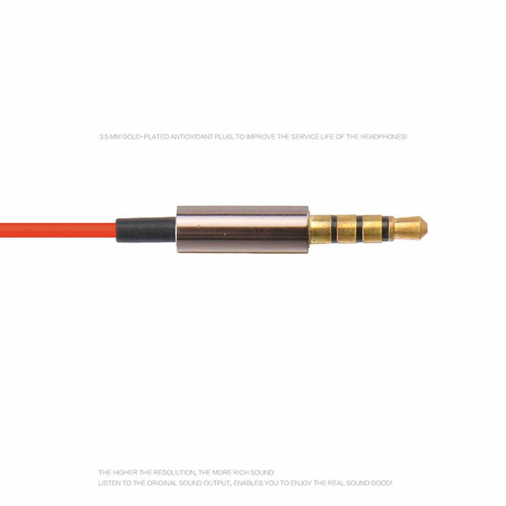 2019 3.5mm słuchawki douszne stereo z mikrofonem słuchawki zestaw słuchawkowy słuchawki douszne do iPhone'a i Android