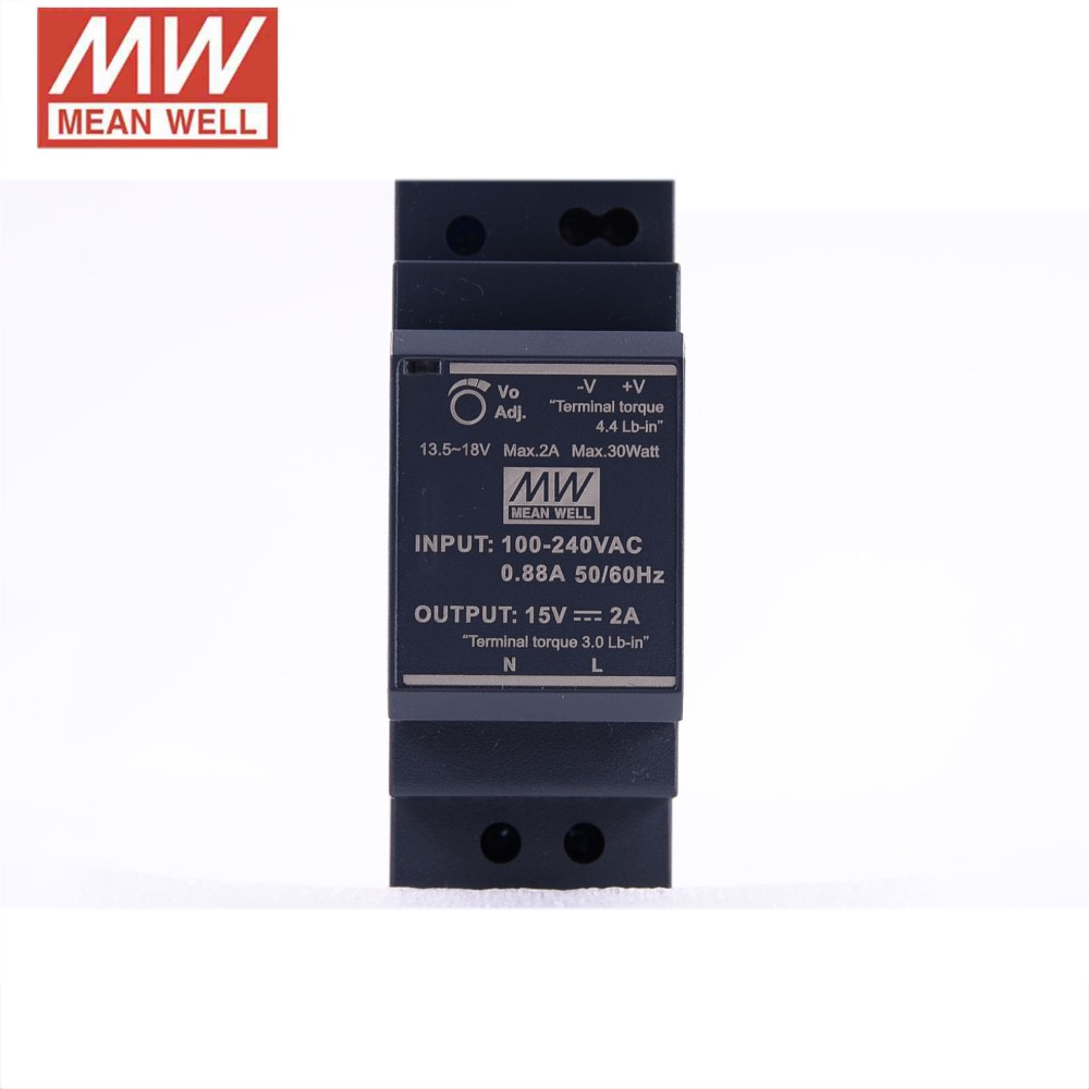 price Incl VAT EDR-120-24 Din-Rail power supply 120W 24Vdc 5A ; MeanWell PSU