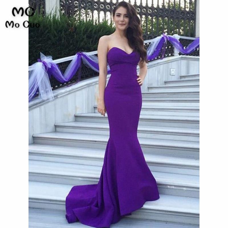 In Stock 2019 Junior Bridesmaid Dresses Prom Gown Long Elastic Satin Sleeveless Zipper Mermaid Bridesmaid Dress