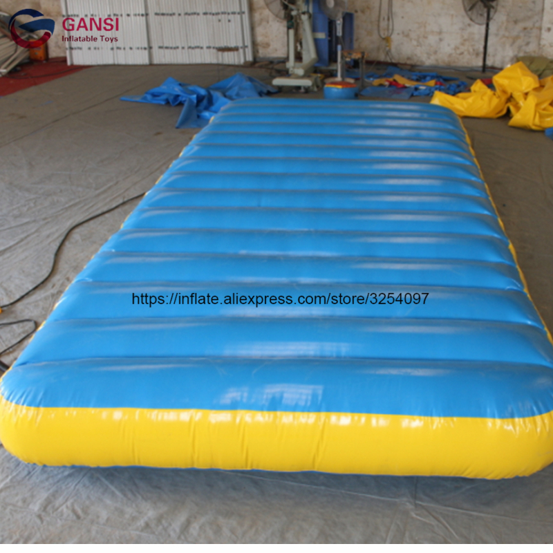 5*2*0.3m swimming platform trampoline mattress inflatable gymnastics mats water floating air mat for sale flamingo white swan inflatable swimming mounts on water floating bed floating row unicorn adult swimming ring
