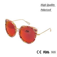 2017 Women Sunglasses Brand Designer Luxury High Quality Stylish Polarized Butterfly Sun Glasses Metal Temple Female