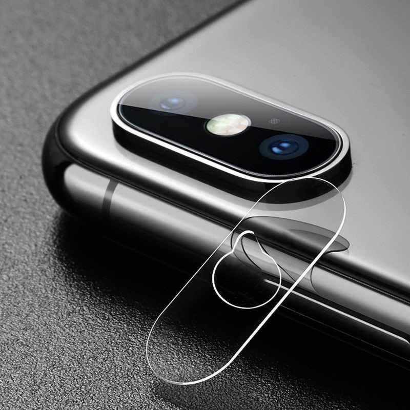 Para IPhone X XR XS Max lente de cámara Protector de vidrio templado cubierta completa carcasa para IPhone 6 6S 7 8 Plus Xmax accesorios de teléfono