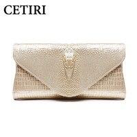 CETIRI Fashion Brand Genuine Leather Messenger Bag Famous Brand Women Shoulder Bag Envelope Women Clutch Bag