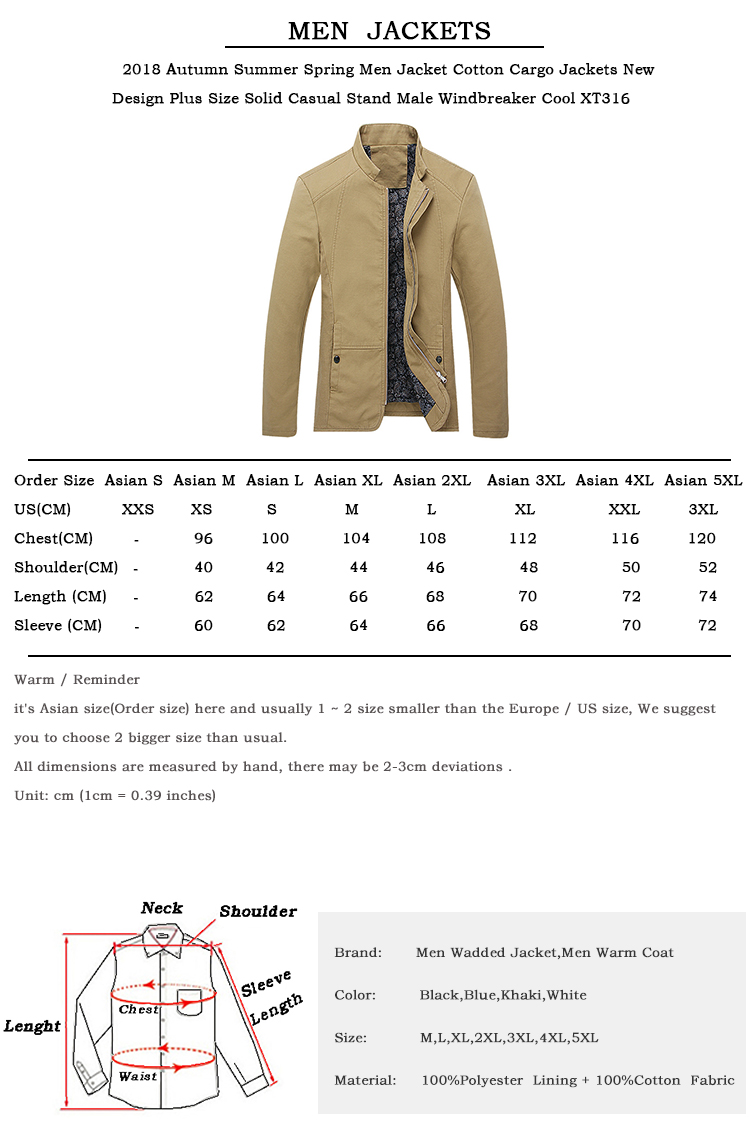 482a241bb83 2018 Autumn Summer Spring Men Jacket Cotton Cargo Jackets New Design ...