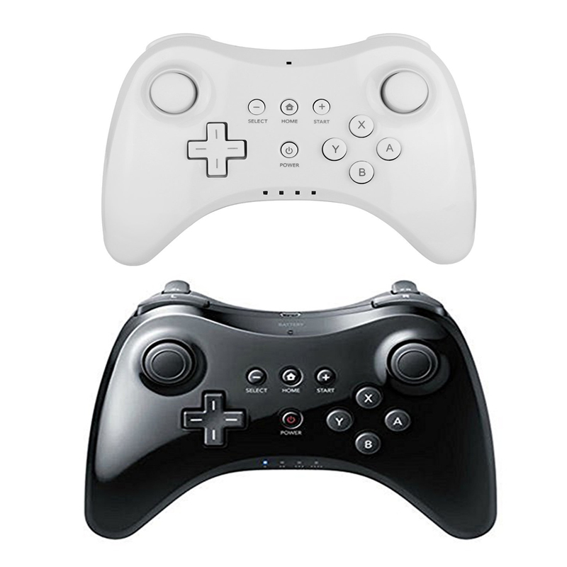 2017 New Brand New Black White Dual Analog Wireless Classic Gamepad Controller For Nintendo Wii U Pro Joystick With USB Cable