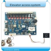 125 кГц RFID Hierarchical управление Лифт управление er панель без программного обеспечения безопасности до и dow 8 этажей RFID контроллер подъемника дос