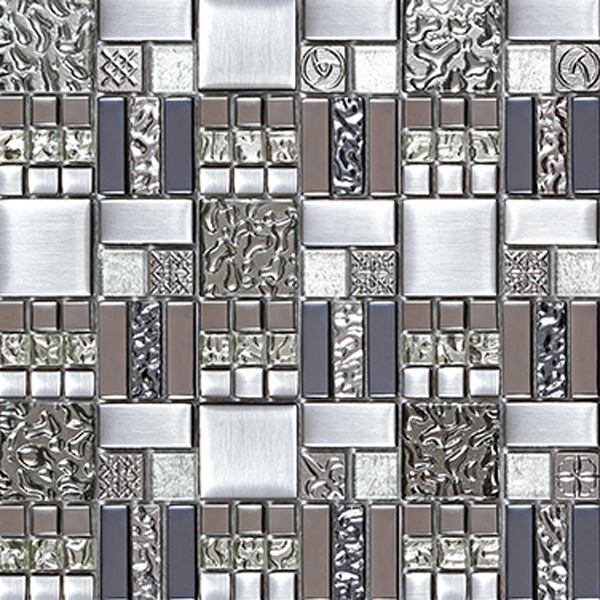 Crystal Gl Tile Ocean Idea Kitchen Waterdrops Mosaic Art Silver Mirror Backsplash Interior