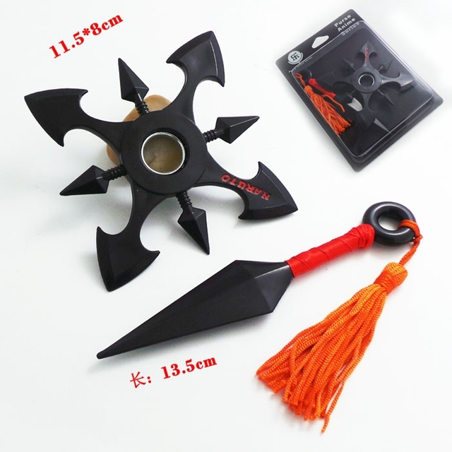 Anime figure weapons toys Naruto weapons Kunai Props Shuriken 11CM
