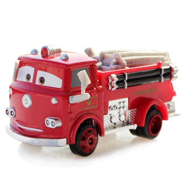100 oroginal pixar cars rouge camion de pompier diecast. Black Bedroom Furniture Sets. Home Design Ideas