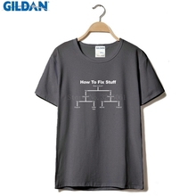 e51379f676 How To Fix Stuff T-SHIRT Tee Him Diy Engineer Builder Funny Gift Birthday T  Shirts Men Casual Printed Pure Cotton Men'S