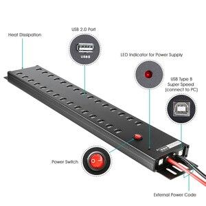 Image 4 - Sipolar hub USB 2.0 de qualité industrielle à grande vitesse pour tablettes et smartphones, charge et synchronisation des données, 30 ports, a 812