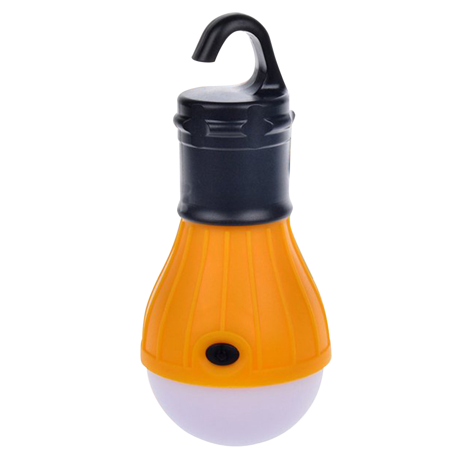 Soft Light Outdoor Hanging LED Camping Tent Light Bulb Fishing Lantern Lamp Orange Hanging Camping Hands Free Lighting LED Lamps