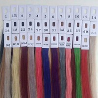 40 Colors Human Hair Color Ring For All Kinds Of Hair Extensions Color Chart