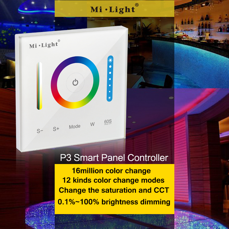 LED Touch Panel Controller Wall Embedded Touch Panel DC12V 24V for RGB+CCT/RGBW/RGB / CCT / Dimmer Control 2pcs/lot Freeshipping