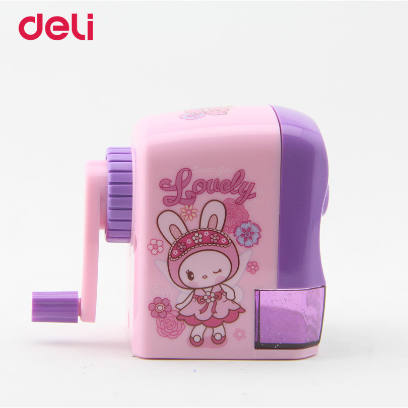 2017Deli Stationery Pencil sharpener kawaii Children Hand-Cranked school supplies mechanical pencil sharpener office accessories deli stationery pencil sharpener mechanical cartoon kawaii pencil sharpener cute pencil sharpener office & school supplies