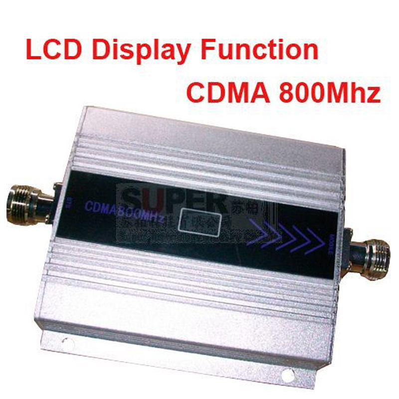 CDMA booster gain 55dbi LCD display function max.500square meter work CDMA <font><b>850Mhz</b></font> mobile phone signal booster and repeater image