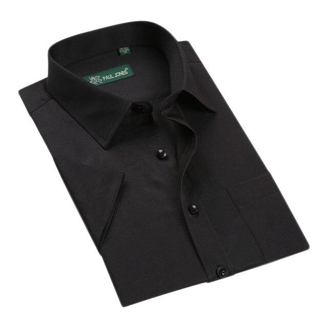 2016 Luxury Men Shirts Plus Size 5XL High Quality Man Slim Short Sleeve Business Shirts Summer British Style Men Shirt  Fashion
