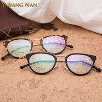 Yi Jiang Nan Brand Top Quality Acetate Material Women Cat Eye Glasses Frame Fashion Trend Optical Glasses for Women
