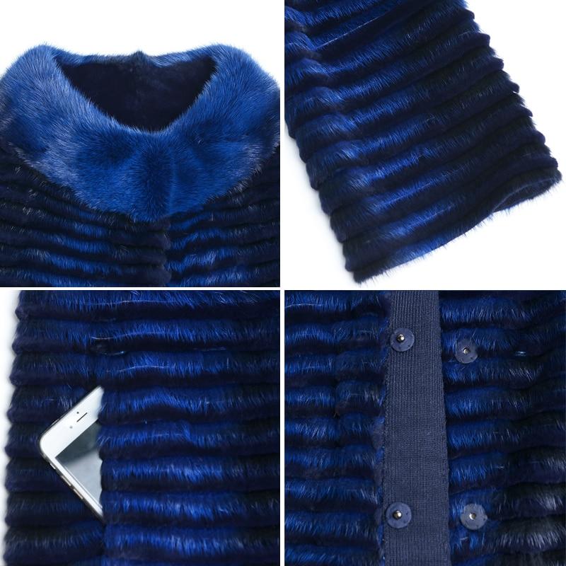 Pour Vison Long Naturel 2018 Manteaux De Les D'hiver En Parker Vestes Bleu Tricoté Hdhohr Fourrure Supérieure Femmes Qualité Chaud Royal Mode Véritable TpIxScwOq4