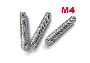 M4 thread rod length 1 meter stainless steel 20 pcs/lot