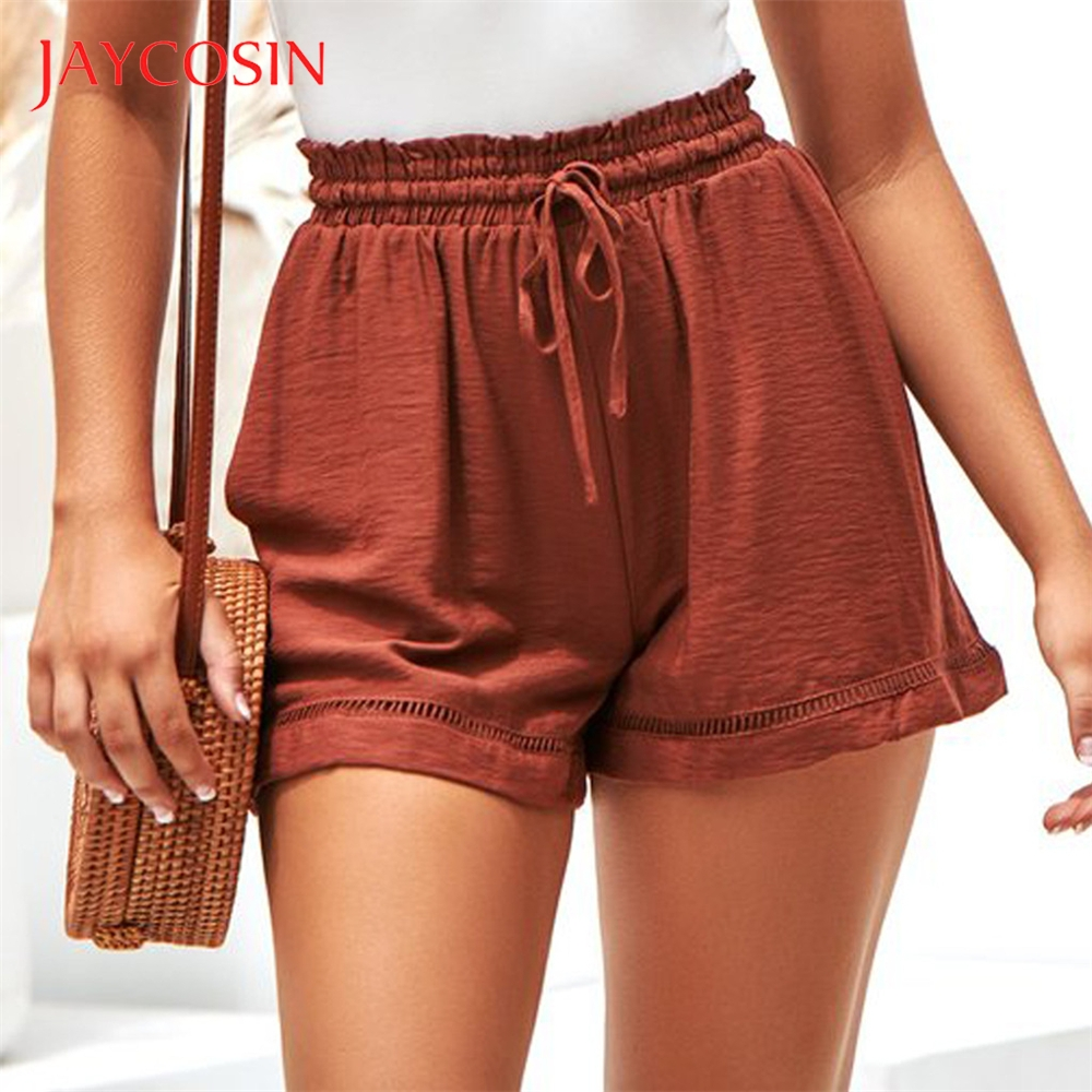 JAYCOSIN Women's Pure Color  Fashion Summer Hot  Shorts Bandage  Trousers Stylish Fashion Solid Make More Attractive