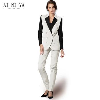 Jacket+Pants Women Business Suits Formal Slim Fit Uniform Styles Elegant Pant Suits Female Trouser 2 Piece Ladies Office Suits