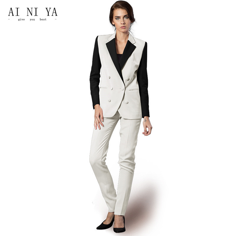 Jacket+Pants Women Business Suits Formal Slim Fit Uniform Styles Elegant Pant Suits Female Trouser 2 Piece Ladies Office Suits ...