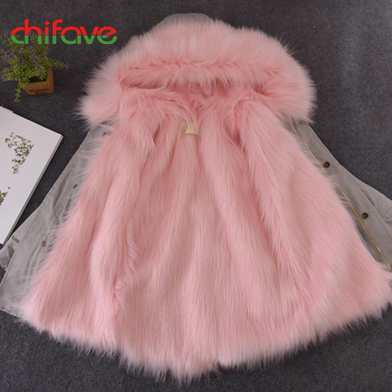 chifave Winter Coats Baby Boys Girls Parkas Faux Fox Fur Long Plush Liner Removable Hooded Warm Children Winter Jacket Fashion 2017 boys winter jackets coats fashion hooded warm winter jacket for boys kids cotton outerwears coats for 10degree boys parkas