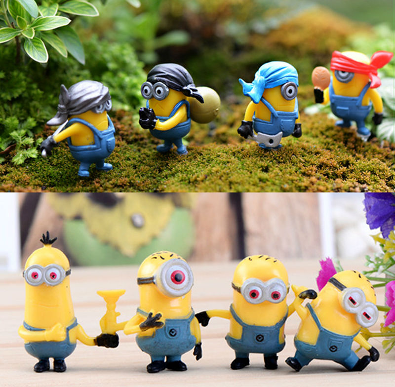 8pcs resine minion fairy garden decoration despicable me for Figurine decoration jardin