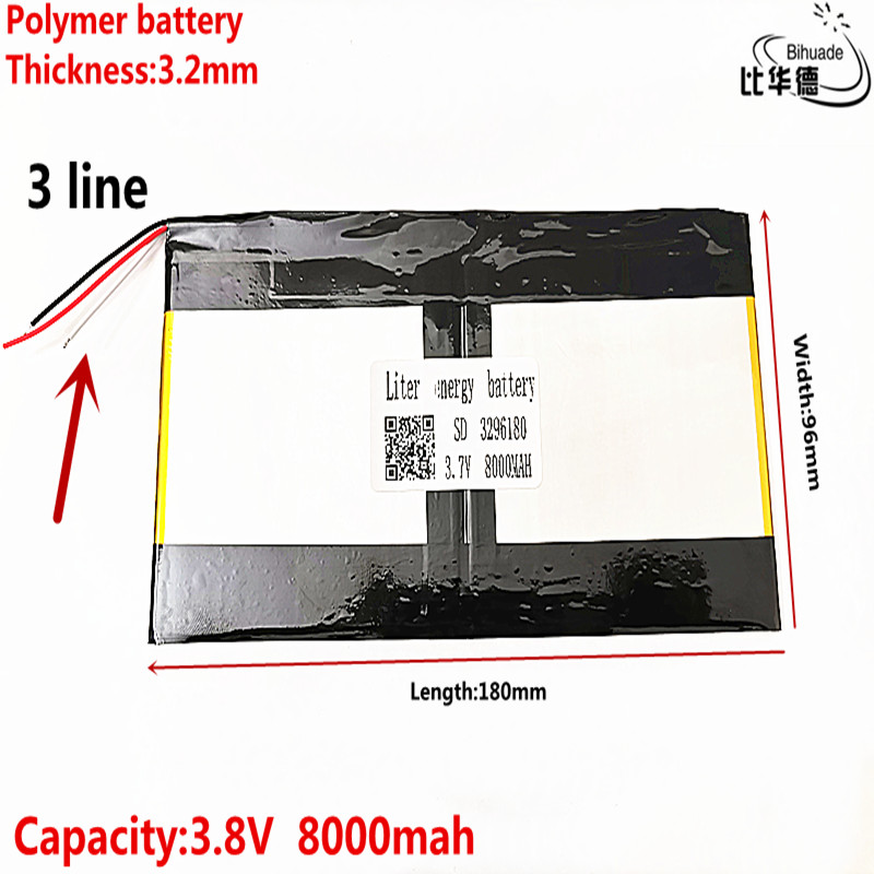 3296180 3.7v 8000mAh For Teclast X98 Air 3G V99i Tablet PC Battery 3 Wire Perfect Quality Of Large Capacity Alternatives