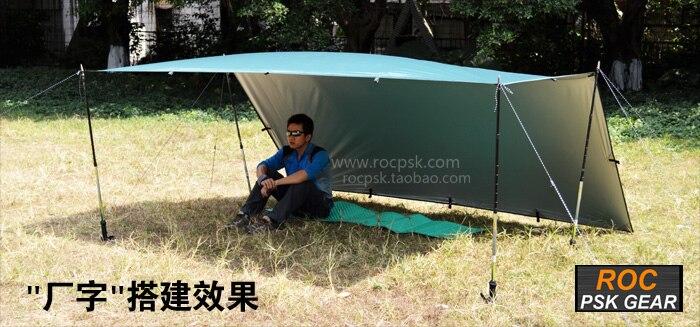 3F UL GEAR bâche ultralégère Camping en plein air survie abri soleil auvent revêtement argenté Pergola tente de plage étanche - 4