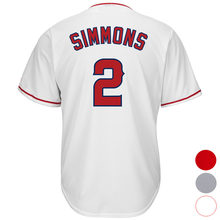 Mens Los Angeles 2 Andrelton Simmons Baseball jersey (White Gray Red) Cool Player Stitched Jersey Free Shipping(China)