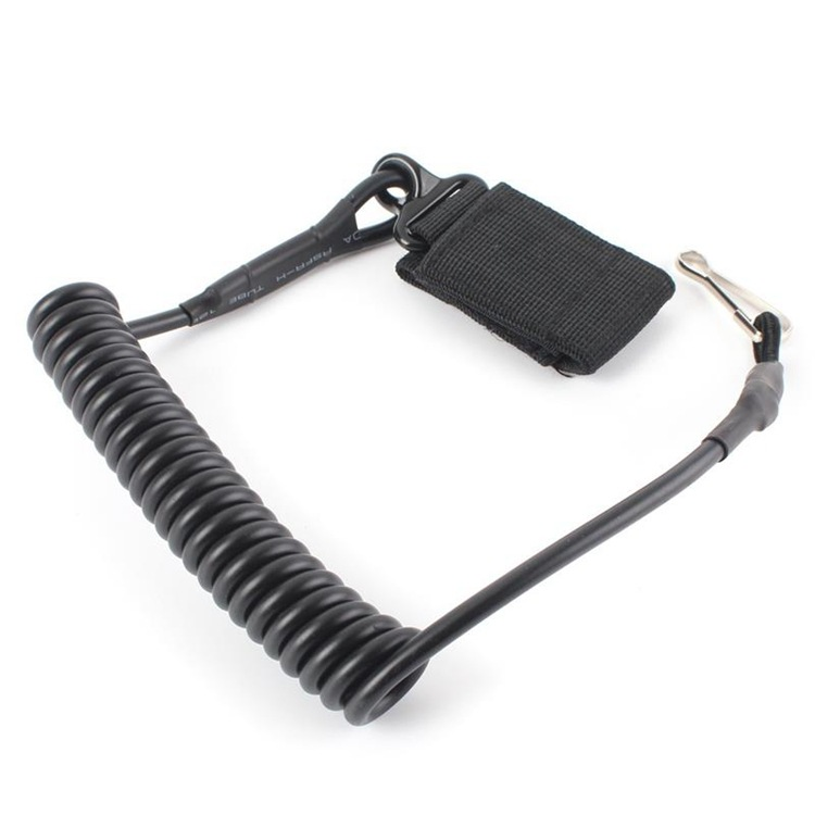 Ipsc Adjustable Combat Sling Telescopic Tactical Pistol Hand Gun Secure Lanyard Spring With Best Magic Tape Belt Free Shipping