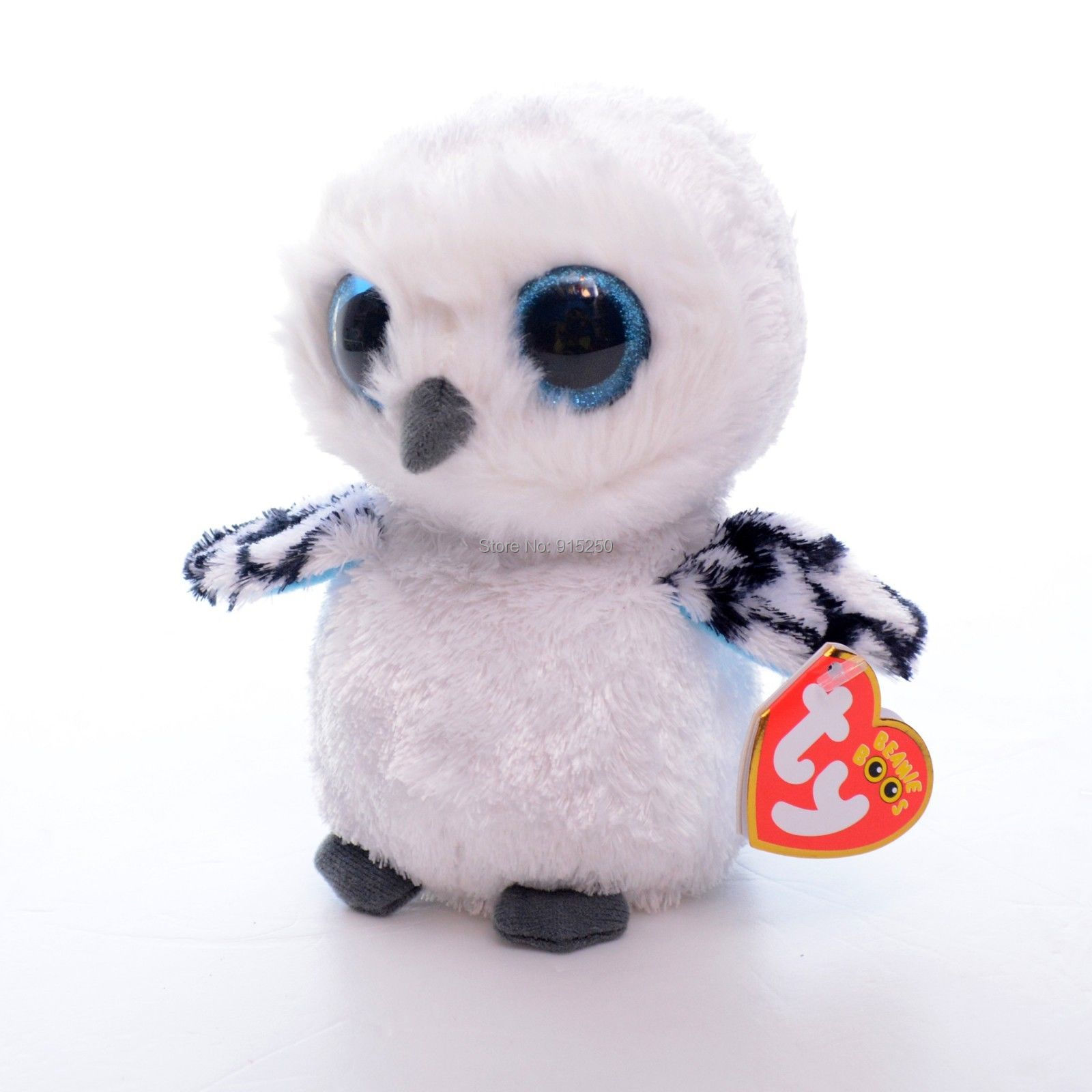Lovely Kids Small Toy 5 Original Ty Collection White Owl Plush Toys