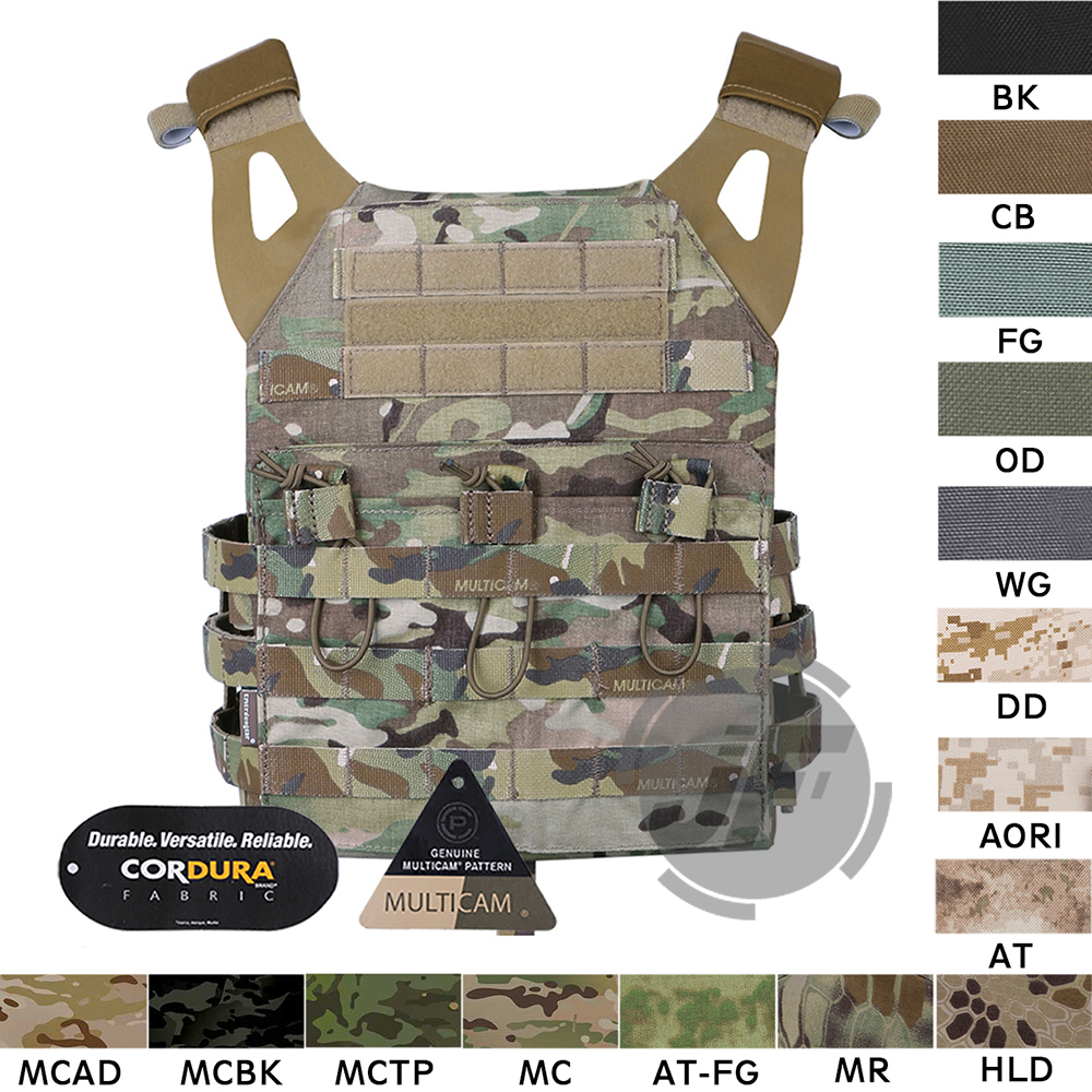 Emerson tactique porte-plaque combinaisons EmersonGear JPC assaut léger gilet de Combat armure corporelle réglable MOLLE + plaques